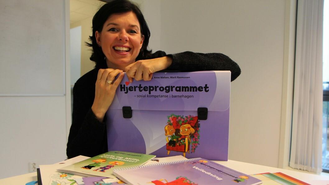 Egen pedagogikk. Randi Sundby har ikke bare gründet sin egen barnehagekjede i Læringsverkstedet. Hun har også utviklet en helt egen pedagogikk for barna som nå også blir gjort tilgjengelig for andre barn gjennom hjerteprogrammet.