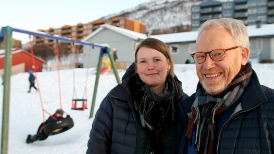 Koordinator for Universitetsbarnehageprosjektet Silje Rossvoll Kvande og studieleder Helge Habbestad ved barnehagelærerutdanningen ved Uit Norges arktiske universitet gleder seg til å komme skikkelig i gang med prosjektet.