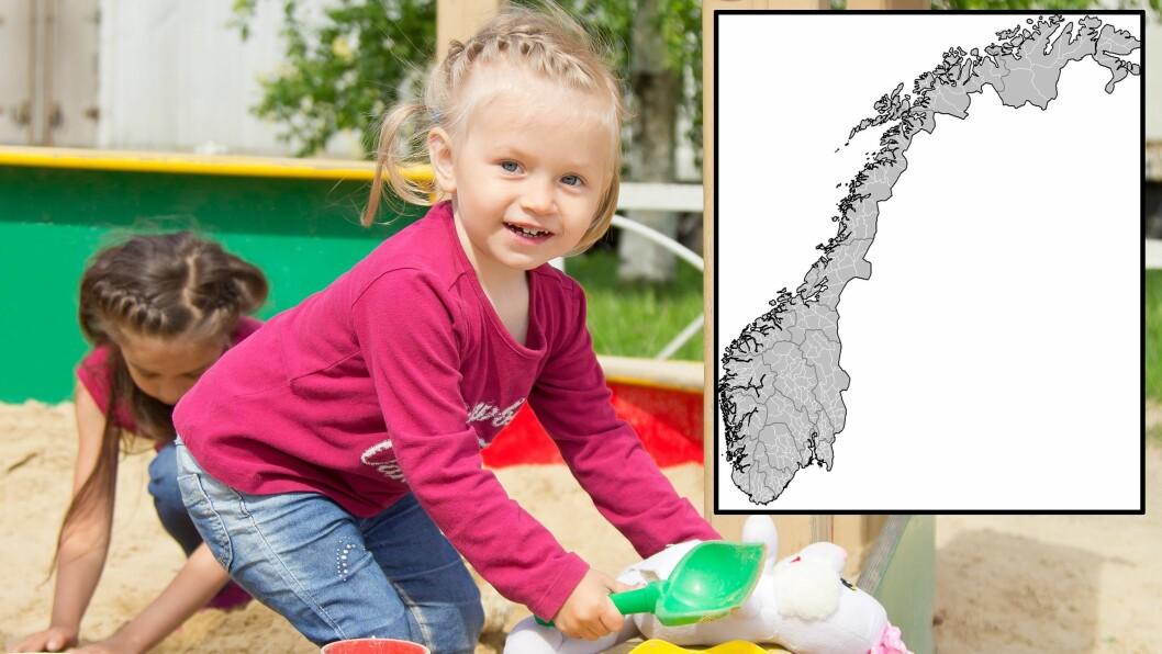 Lenger ned i artikkelen finner du hvordan foreldre i 135 norske kommuner har svart på spørsmålet om hvor fornøyd de totalt sett er med sin barnehage.