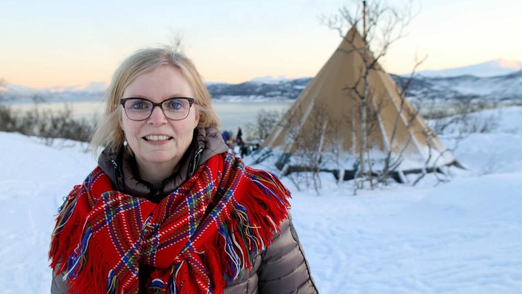 Turid Boholm legger vekt på at både de samiske og de norske barna i Bukkespranget Naturbarnehage skal ha et godt samisk tilbud.