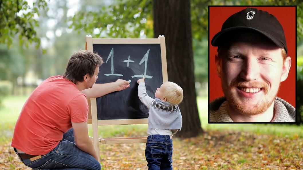 Truls Lier (lille bildet) er nyutdannet barnehagelærer, og studerer nå master i Barnehagekunnskap ved Høgskulen på Vestlandet, Bergen.
