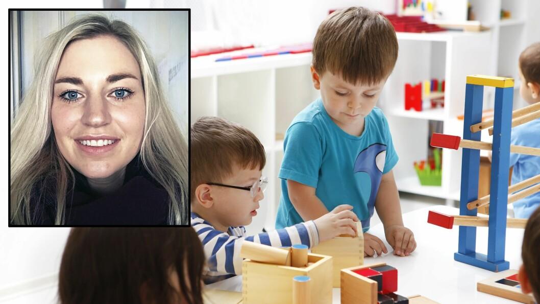 Hedda Fonsdal jobber som pedagogisk leder.