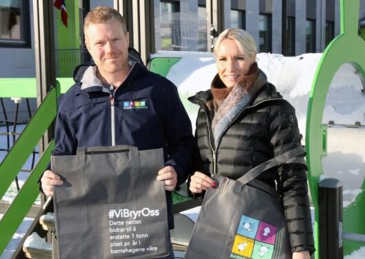 Styrer Vegar Andersen i Kulås barnehage og prosjektleder Turi Dolve Lund i Barnehagenett.