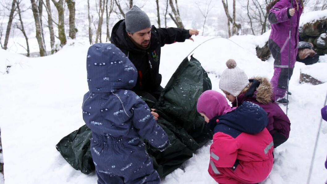 I Eventus Midtun barnehage utgjør mennene 40 prosent av personalgruppa.