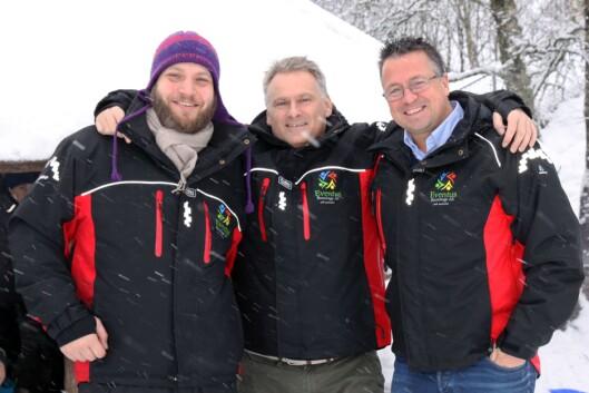 Fra venstre: Barnehagelærer Bjørn Iversen, administrerende direktør i Eventus og daglig leder i Eventus Midtun, Thomas Hopland, og eier av Evenetus, Kjetil Tuvin Hopen.