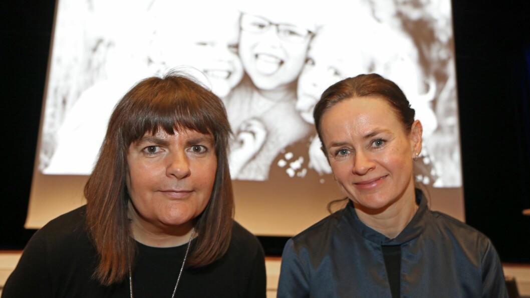 Styrer Grethe Barane (til venstre) og assisterende styrer Lill Iren Sele ved Sørhellet barnehage i Klepp kommune.