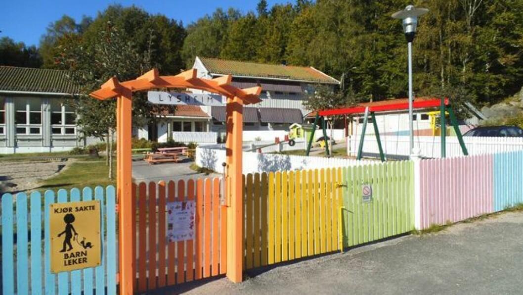iFokus Lysheim barnehage er en av fire som Larvik kommune kan komme til å kjøpe. Foto: iFokus barnehagene AS