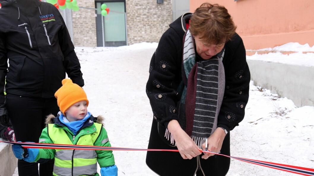 Ordfører Marianne Borgen kastet glans over dagens markering av barnehageåpningen.
