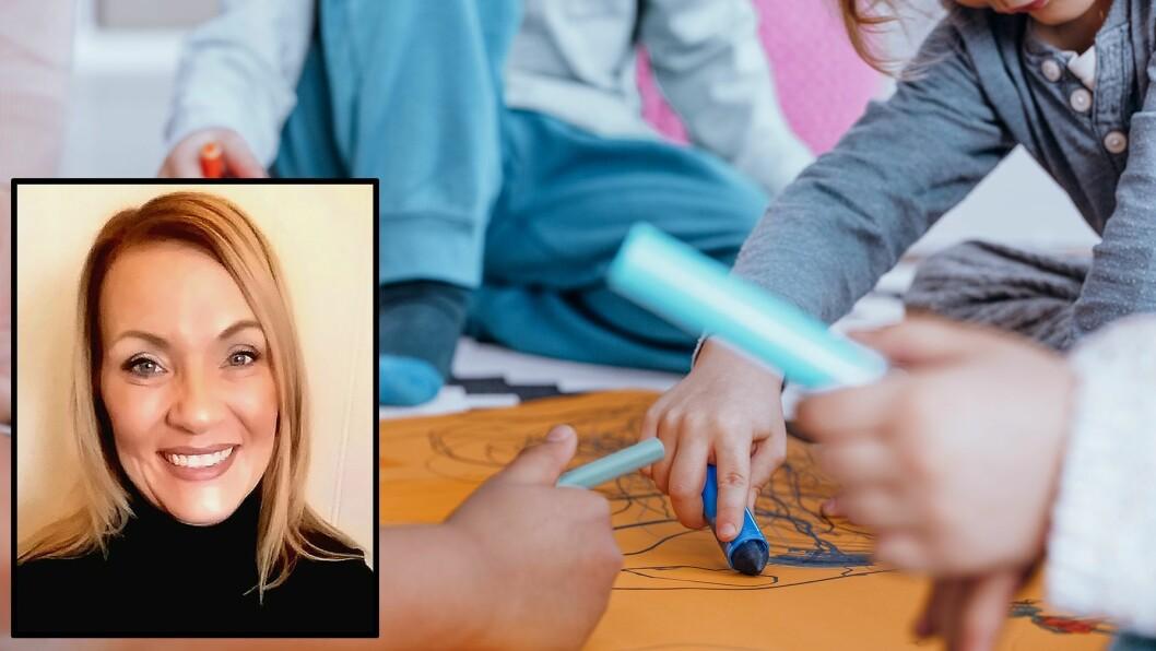 Stipendiat Gunn Irene Heggvold jobber med en doktorgrad med arbeidstittelen «Pedagogiske lederes støtte til assistentenes kunnskapsutviklende læringsprosesser i barnehagen». Foto: Privat/Getty Images