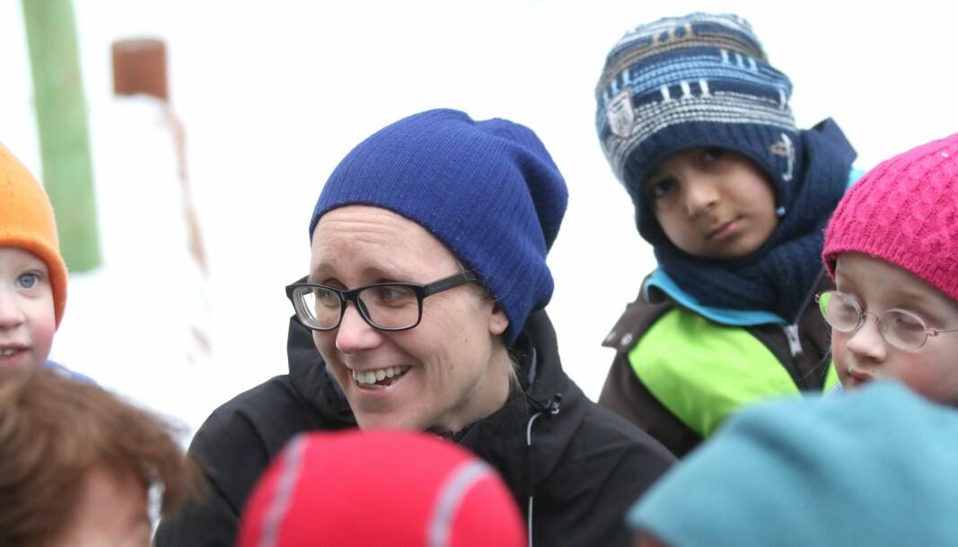 Marte Lillealtern Haglund var tidligere styrer i Nonneseter Kloster idrettsbarnehage. Bildet er tatt i forbindelse med åpning av barnehagen i mars 2018.