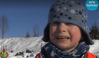 Videoen med Ola (5) på skitur med barnehagen er sett av mer enn en million