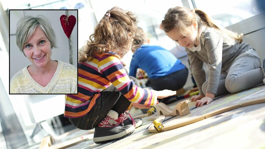 Daglig leder Nina Hermanrud i Bjørnsgård barnehage mener hun har verdens beste jobb - men at den ikke passer for alle. Illustrasjonsfoto: Gettyimages/privat