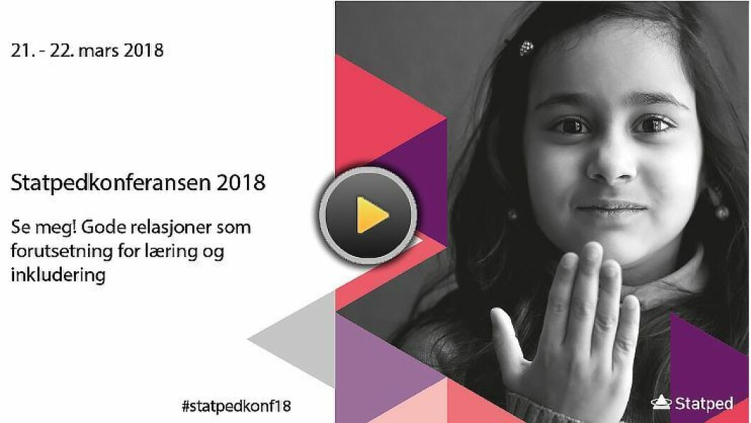 For å følge Statped-konferansen, klikk på videovinduet lenger ned i artikkelen.