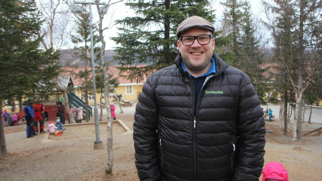 Pedagogisk leder Andreas H. Langfjell jobber i Norlandia Bjørneborgen barnehage i Bodø. Foto: Trine Jonassen (arkiv)