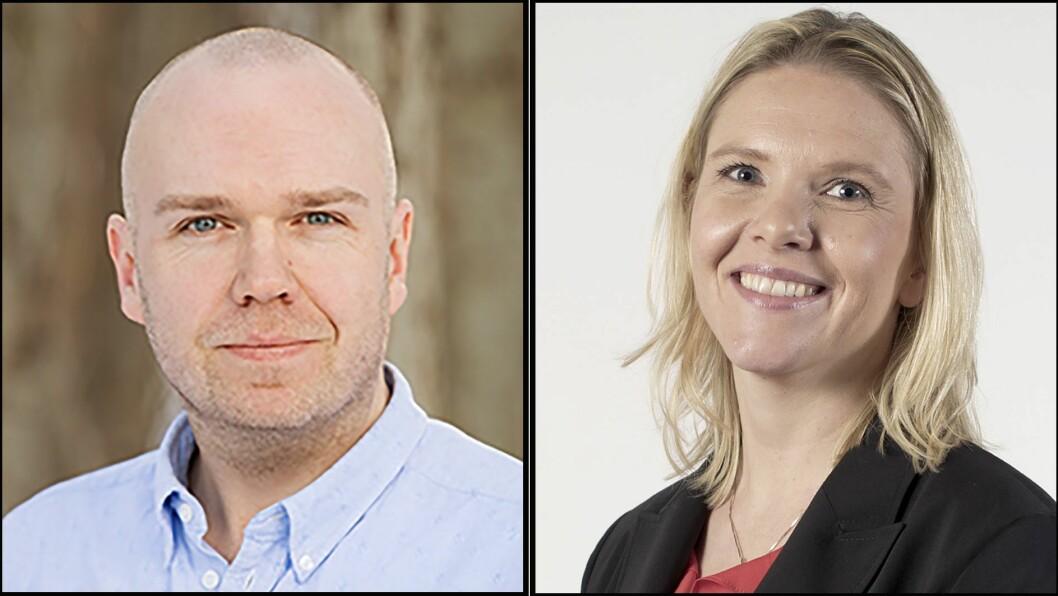 Førsteamanuensis Kris Kalkman ved Dronning Mauds Minne Høgskole for barnehagelærerutdanning og tidligere justisminister Sylvi Listhaug (Frp).