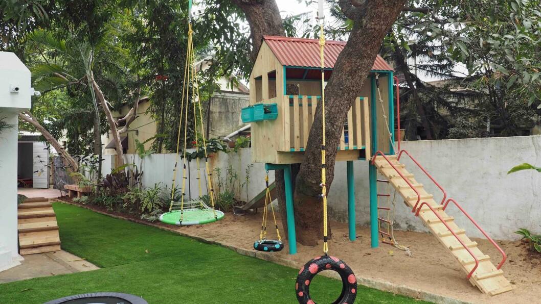 Barna i Papagoya Kindergarten tilbringer rundt 80 prosent av tiden sin utendørs.