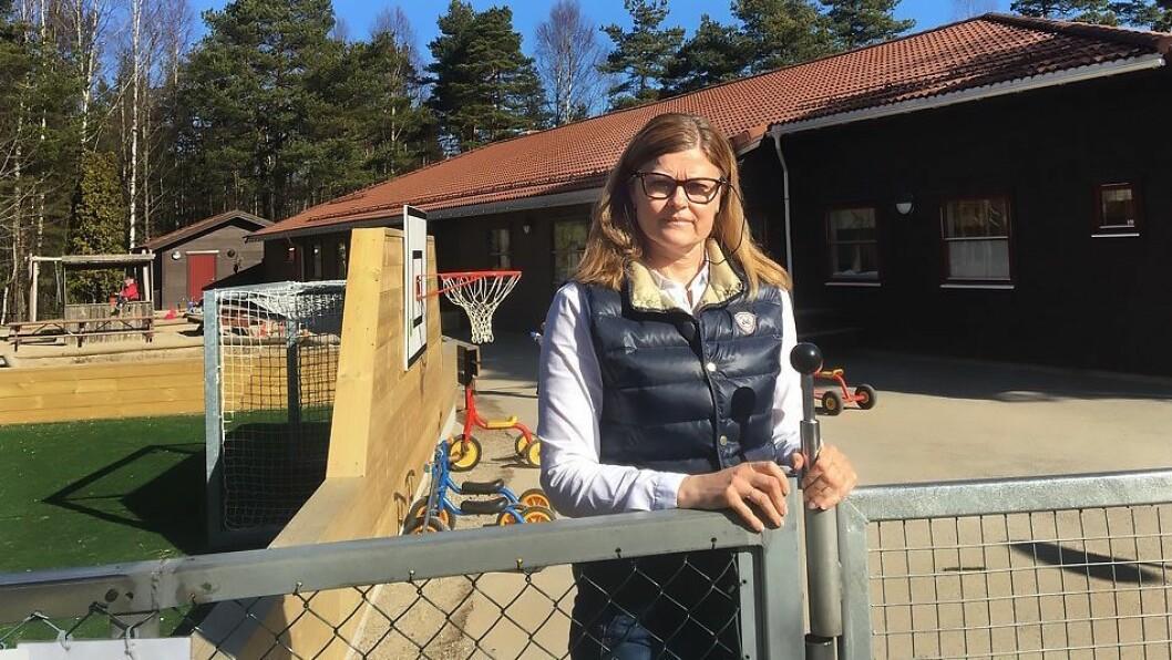 Daglig leder Hege Paulsen i Tuneskipet barnehage ville først ikke tro det da hun hørte rykter om brevet som ble sendt ut. Foto: Tuneskipet barnehage