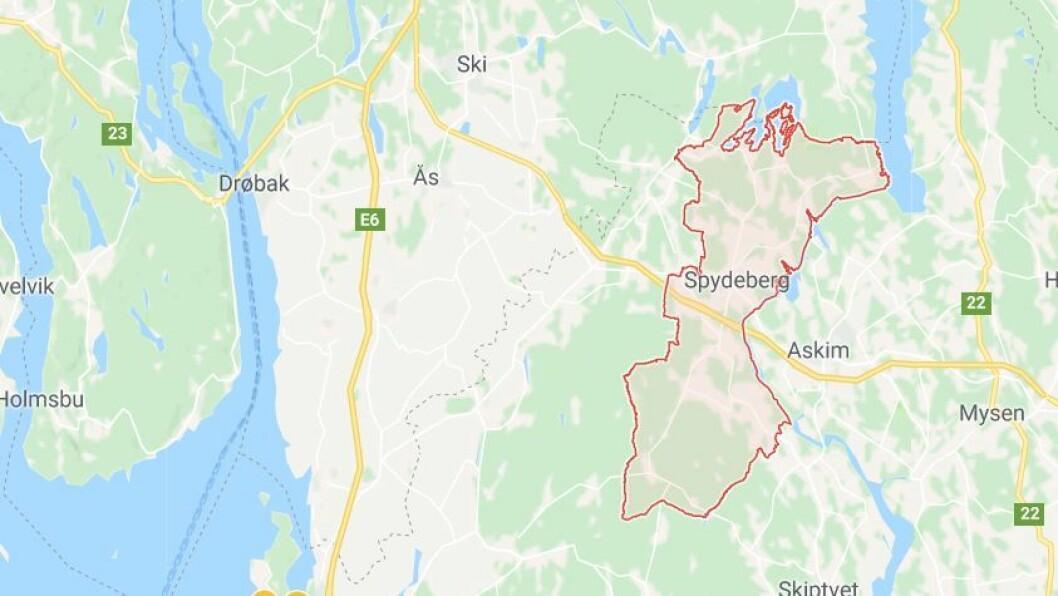 Spydeberg kommune søker løsning i samarbeid med naboen Askim. Foto: Googlemaps