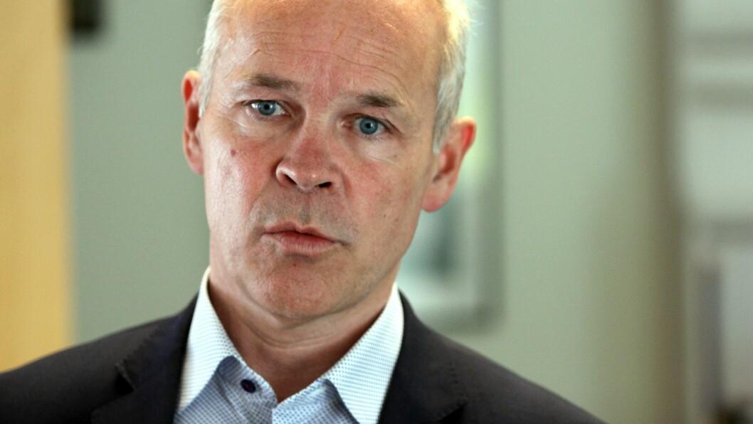 Kunnskaps- og integreringsminister Jan Tore Sanner. Her på besøk i Regnbuen barnehage i Bodø.
