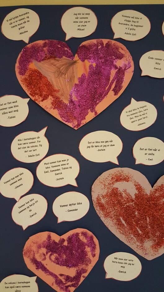 – Hjertestreker handler om å gjøre andre glad. Det er handlinger som viser at vi bryr oss om hverandre, sier pedagogisk leder Stine Bredesen.