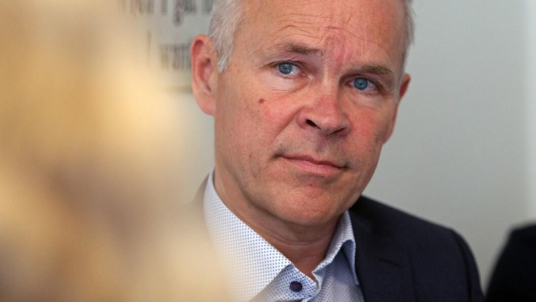 Kunnskaps- og integreringsminister Jan Tore Sanner på besøk i Regnbuen barnehage i Bodø ved en tidligere anledning.
