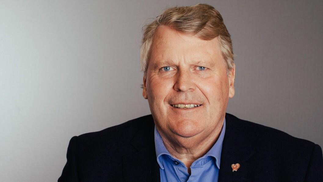 Utdanningspolitisk talsperson Hans Fredrik Grøvan i Krf går rett fra landsstyremøte i partiet til budsjettforhandlinger med Høyre, Frp og Venstre i helga.
