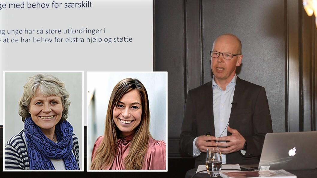 Professorene Ona Bø Wie (til venstre) og Monica Melby-Lervåg ved Institutt for Spesialpedagogikk, Universitet i Oslo er lite imponert over arbeidet til professor Thomas Nordahls ekspertgruppe. Foto: UIO/Silje Wiken Sandgrind