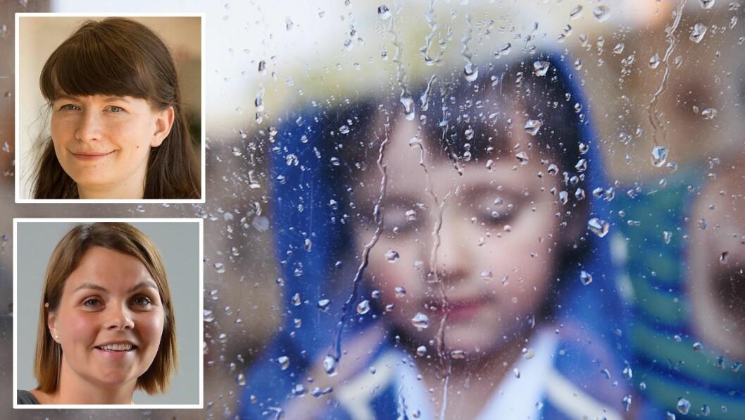 Så mye som 12 prosent av barn har oppgitt at de ofte blir plaget av andre barn i barnehagen. Dette vil Anne Elin Kleva i Redd Barna og Marie Skinstad-Jansen i FUB ha nulltoleranse mot. Foto: Getty Images, Redd Barna og FUB
