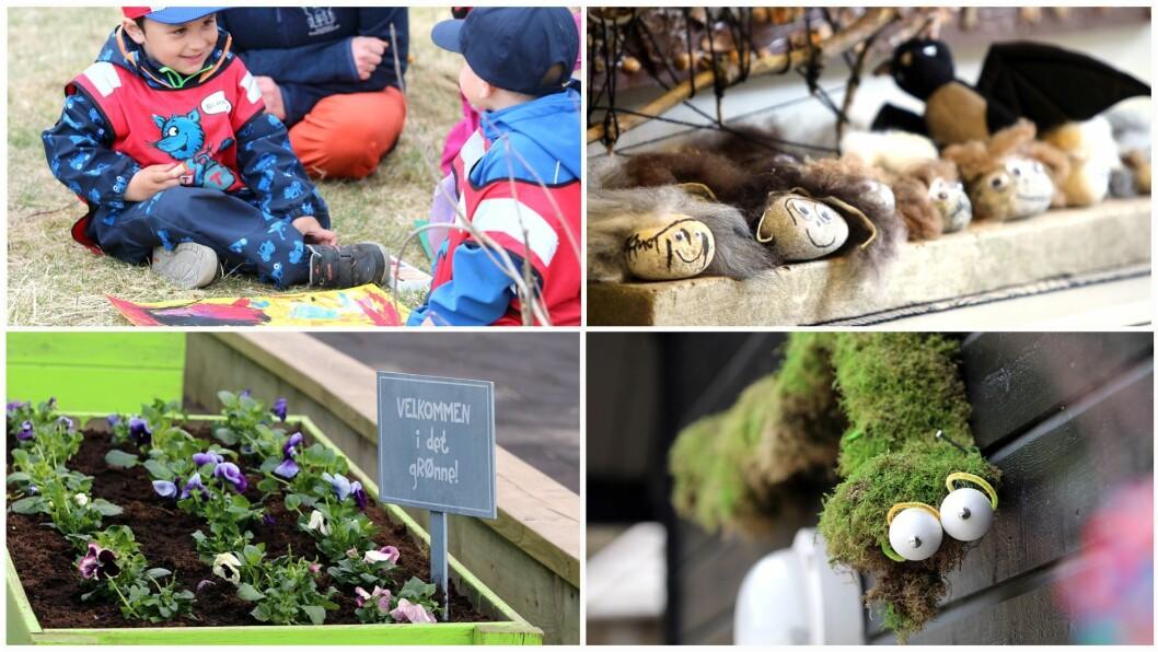 Både de ansatte og barna i Bogafjellbakken naturbarnehage er både kreative og over gjennomsnittet opptatt av naturen.