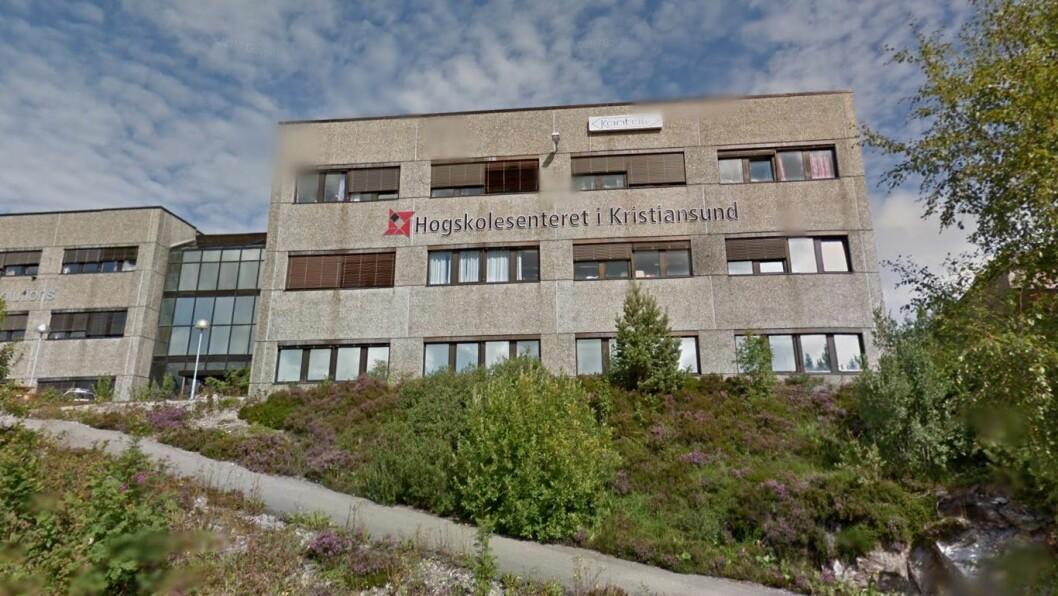Dersom alt går slik samarbeidspartnerne håper, kan det bli barnehagelærerutdanning i regi av DMMH og Høgskolen i Molde ved Høgskolensenteret i Kristiansund fra neste år. Foto: Googlemaps