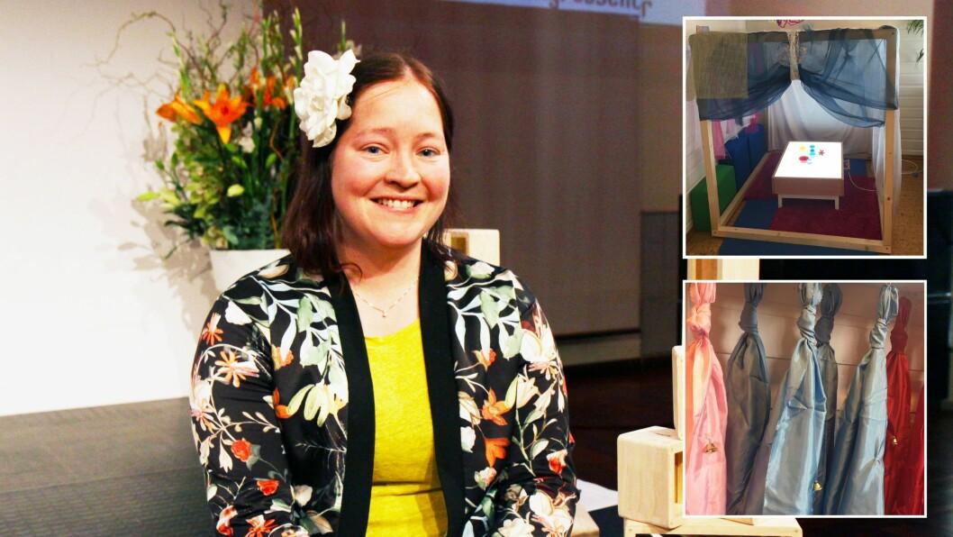 Nina Aksnes Lundemo er barnehagelærer og jobber til daglig i Steinrøysa barnehage på Lillehammer. Hun har også skrevet boka «Strøm er sånn lys som skravler rundt».