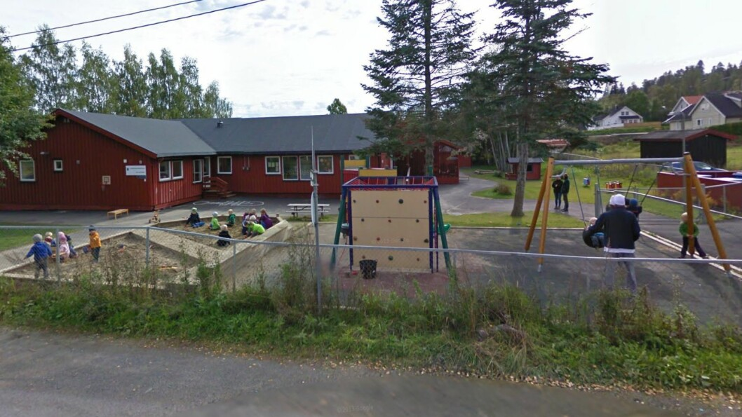 Gjerningspersonen er av Bærum kommune bosatt i en boligblokk rett ved Lommedalen barnehage. Foto: Googlemaps