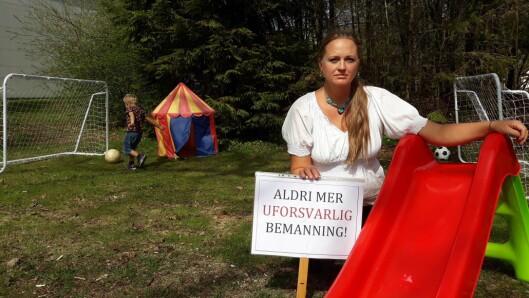 Christina Grefsrud-Halvorsen deltar på vegne av Foreldreopprør 2018.