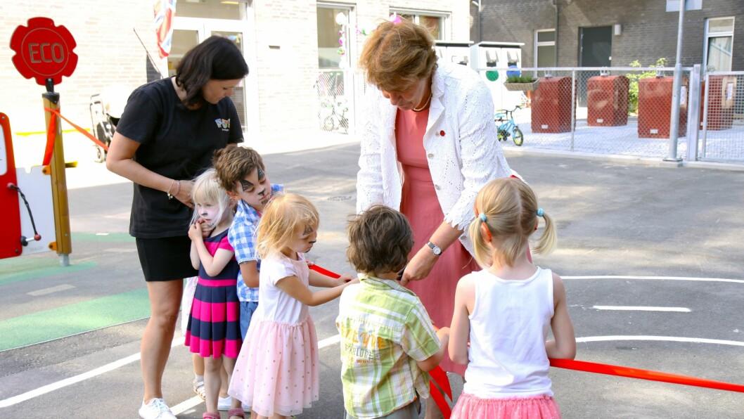 Ordfører Marianne Borgen (SV) sto for den offisielle åpningen av Brødfabrikken FUS barnehage på Løren i Oslo.