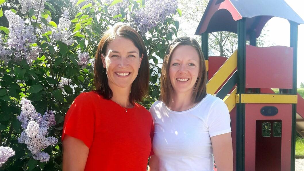 Ergoterapeut Tone Klakken Gjersrud (til venstre) og fysioterapeut Anita Westerås er sentrale i Solid Start Sykkylven.
