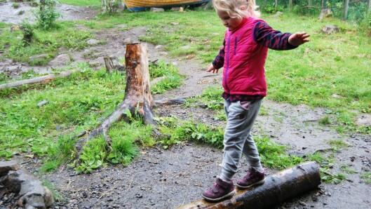 Balanse er også en del av årshjulet til barnehagene i Sykkylven.