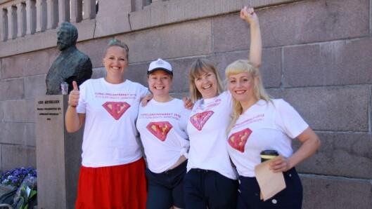 Initiativtakerne til Foreldreopprøret 2018, fra venstre: Christina Grefsrud-Halvorsen, Caroline Omberg, Janne Bergstå og Mari Sletten.