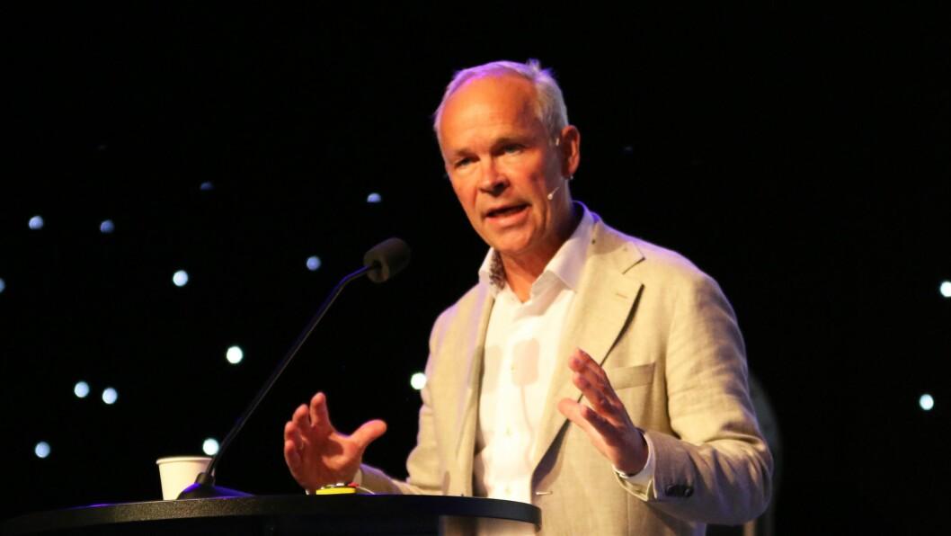 Kunnskaps- og integreringsminister Jan Tore Sanner snakket for nær tusen representanter fra barnehagesektoren under Barnehage 2018.