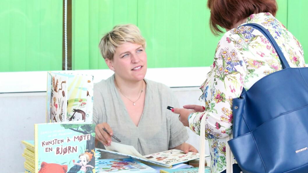 Camilla Otterlei fikk både gode tilbakemeldinger og gode samtaler under Barnehage 2018.