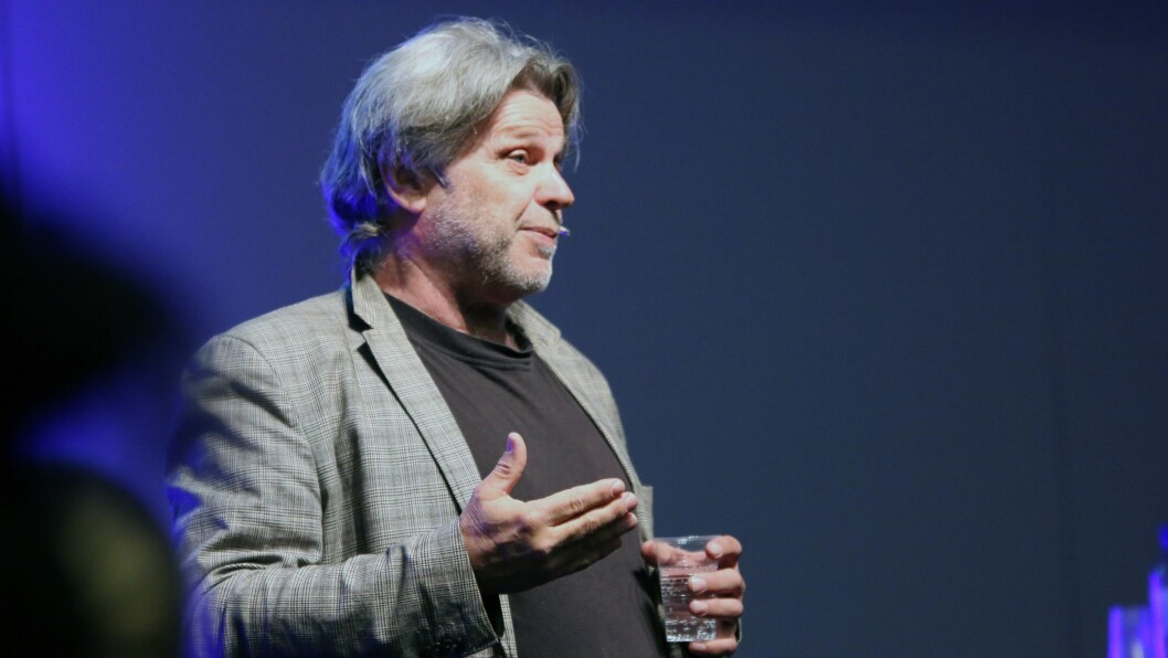 Inge Arnt Nordhaug leverte et engasjert og engasjerende foredrag på Barnehage 2018.