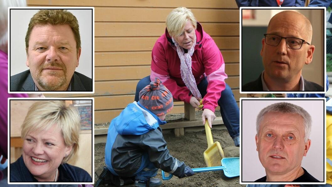 Siv Jensen, Øystein Djupedal, Kristin Halvorsen, Steffen Handal og Arild M. Olsen er blant deltakerne når SV fredag inviterer til bursdagsfeiring for barnehageforliket.
