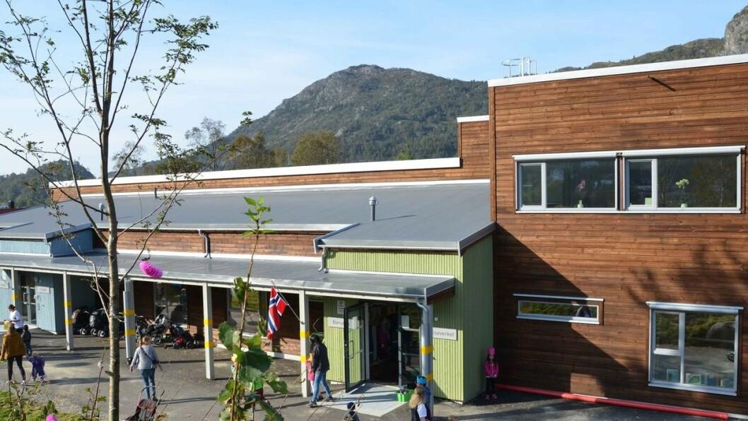 Valheim barnehage er en av de største barnehagene i Bergen og åpnet i 2014. Foto: Synnøve Aas, Bergen kommune