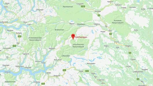 Galdhøpiggen er Norges høyeste fjell og ligger i Jotunheimen. Foto: Googlemaps