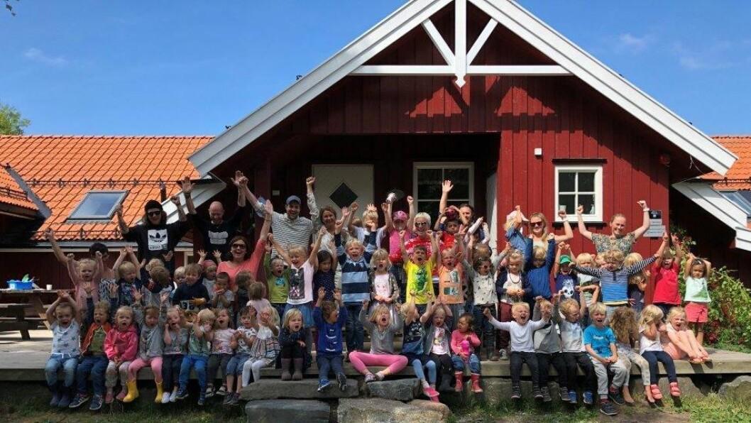 Tronvik gårdsbarnehage er en av fem finalister som kan vinne tittelen «Årets barnehage 2018».