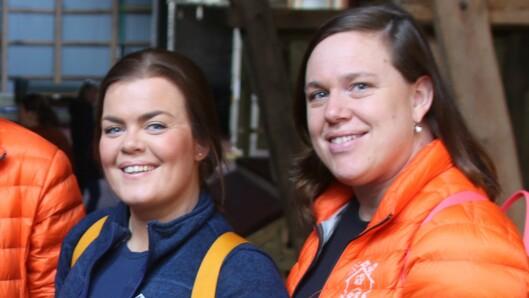 Pedagogisk leder ved småbarnsavdelingen Ive Langesæter og styrerCarina Aalberg i Nordby Gardsbarnehage.