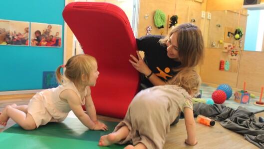 Hege Hagelund er barnehagelærer med ansvar for de yngste barna i Den blå appelsin Kanvas-barnehage.
