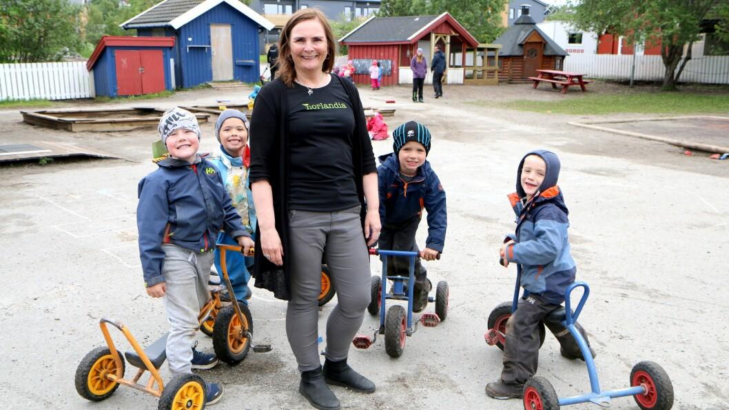 Daglig leder Ann-Hilde Hansen i Vollen barnehage har inkludering og forebygging av mobbing som et viktig tema i barnehagen.