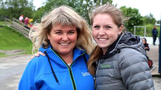 Lill-Merethe Sveggen (til venstre) og Birgitte Nordby.