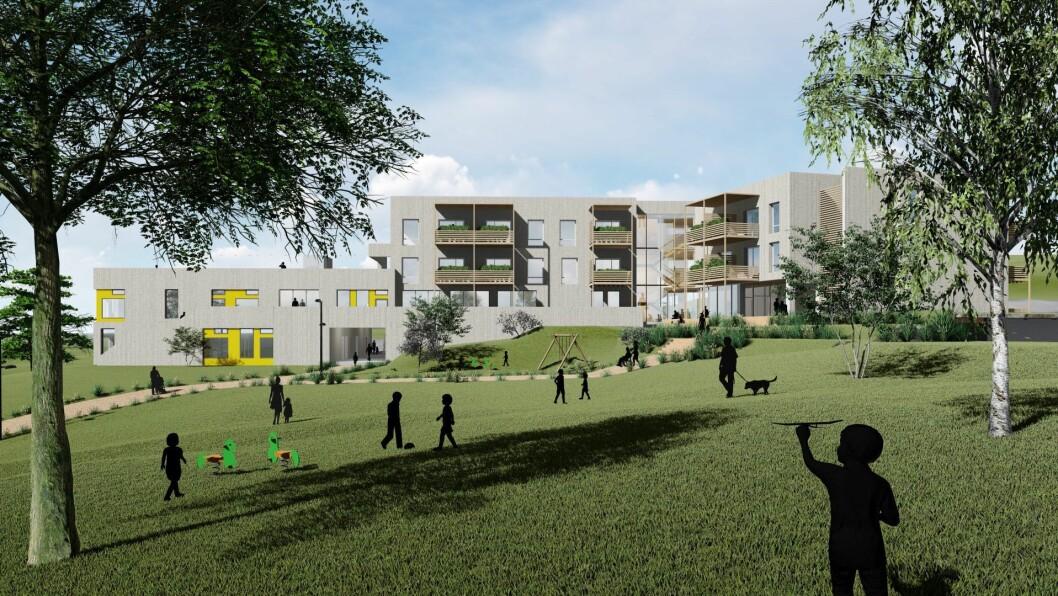 Byggeprosjektet som har fått navnet Samklang er tegnet av HRTB Arkitekter, INBY er landskapsarkitekter og HENT skal bygge anlegget. Barnehagen skal etter planen være ferdig høsten 2019.