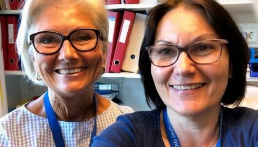 Fra venstre: Psykologspesialist Helle Schiørbeck og spesialpedagog Elna Thurmann-Nielsen ved Nasjonal Kompetansetjeneste for habilitering av barn med spise- og ernæringsvansker ved Oslo Universitetssykehus-Rikshospitalet.